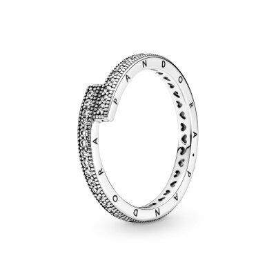 PANDORA Ring 199491C01 Sparkling Overlapping