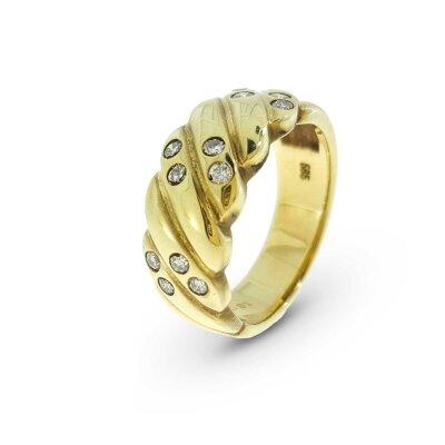 Kettler Brillantring 585/- Gelbgold Gr. 55 21490