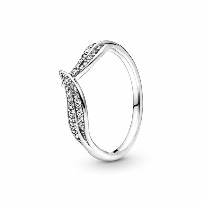 PANDORA Ring 199533C01 Sparkling Leaves