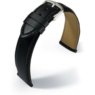 Eulit Lederband Büffelkalb Schwarz 22 mm