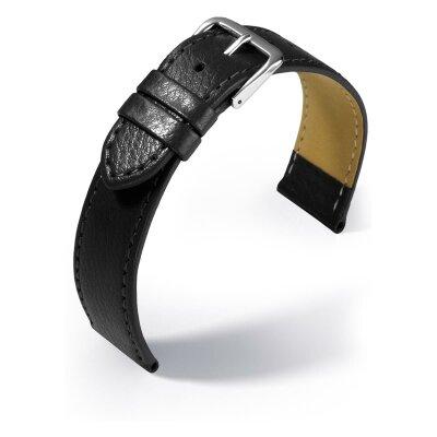Eulit Lederband Kansas Schwarz 20 mm 350620102