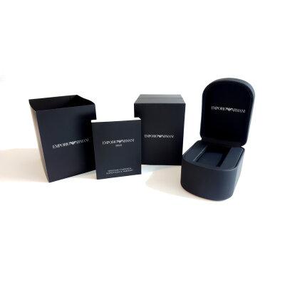 EMPORIO ARMANI Uhren Box Etui schwarz Schmuckbox