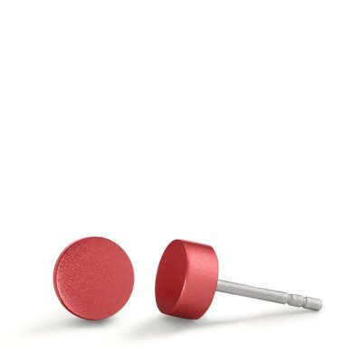 TeNo Ohrstecker Disc 592605 Ruby Red