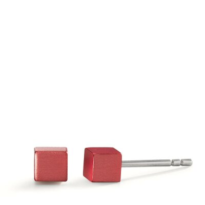 TeNo Ohrstecker Cube 592570 Ruby Red