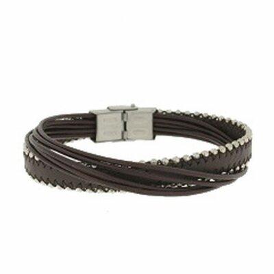 Clochard Fashion Unisex-Armband 20 cm 6 Lederbänder...