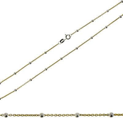 Kettler Damenkette Kugel 925/- IP gold 45 cm 20087421