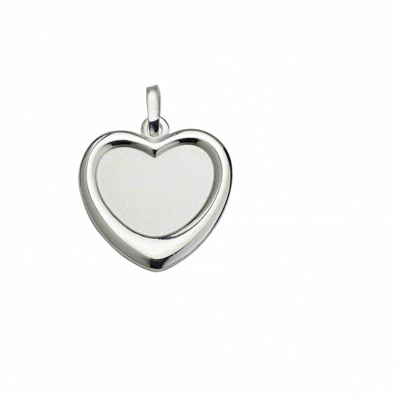 CEM Anhänger Herz  Sterlingsilber 925/- für Gravur 5-127425-001 T2