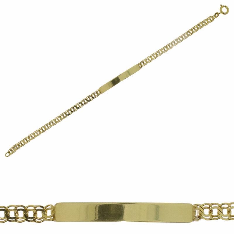 Kettler Identband / Gravurband Gelbgold 333/- 19 cm 11395475