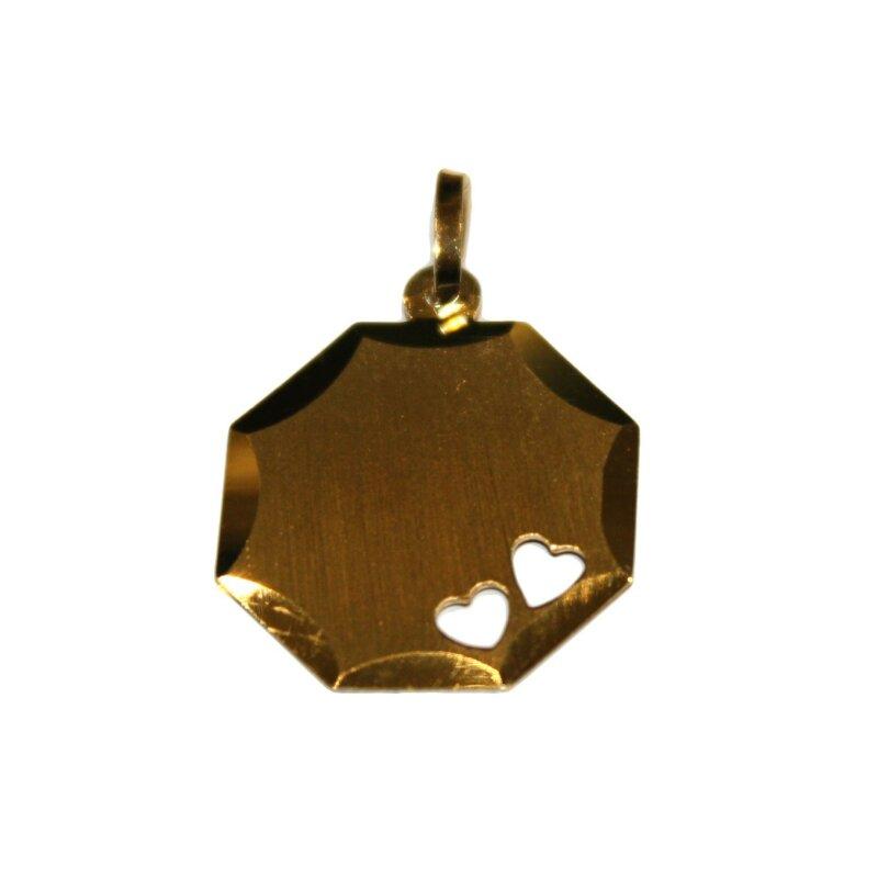 Kettler Gravurplatte 333/- Gelbgold 10285