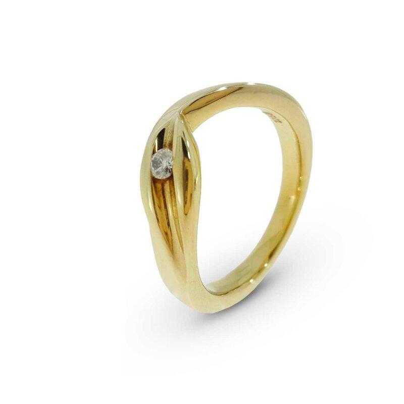 Kettler Damenring Gelbgold 375/- 1798 Gr. 57
