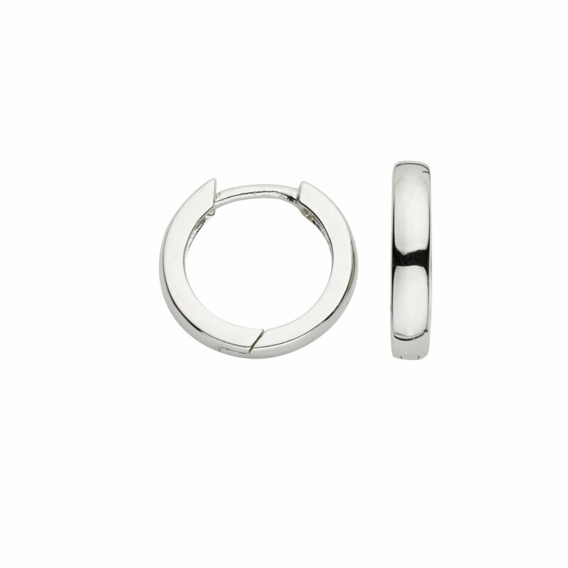 CEM Creolen Silber 925/-rhod.14x3mm 5-126571-001