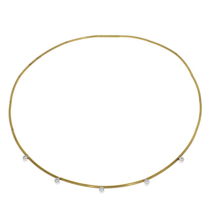Quinn Brillant 0,2ct Halsreif 750/- Gelbgold 71000020050010