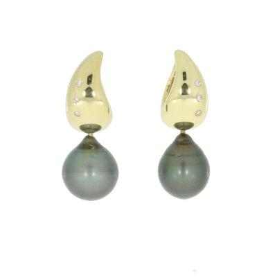 Schoeffel Ohrhänger 380315 mit Tahiti-Perle und...