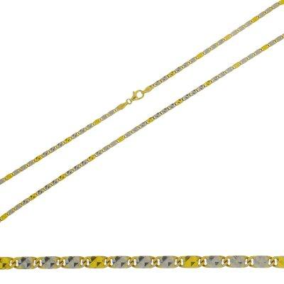 Collierkette 333/- bicolor Fantasie