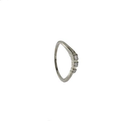 Kettler Damenring 925/- Sterlingsilber rhod. 1162326 Gr. 54