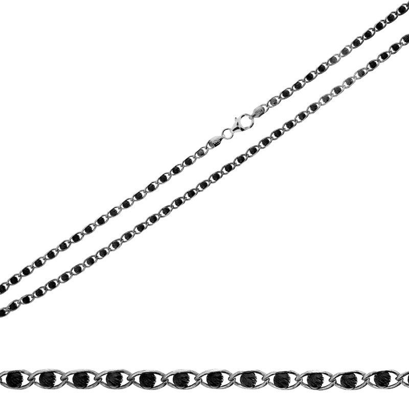 Kettler Damenkette Fantasie 42 cm  925/- geschwärzt BE11210316